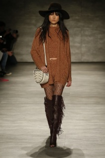 Rebecca-Minkoff-Fall-2015-Collection-Knit-Separates-Western-Hat-Pattern-Tights-Leather-Fringe-Open-Toe-Knee-High-Boots-NYFW-Glamazonsblog